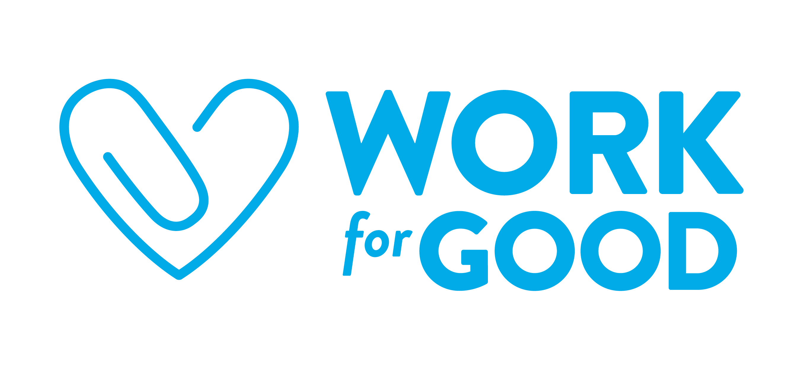 Work for Good Horizontal Blue on White logo