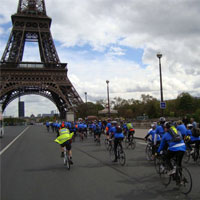 Young Epilepsy London to Paris cycle