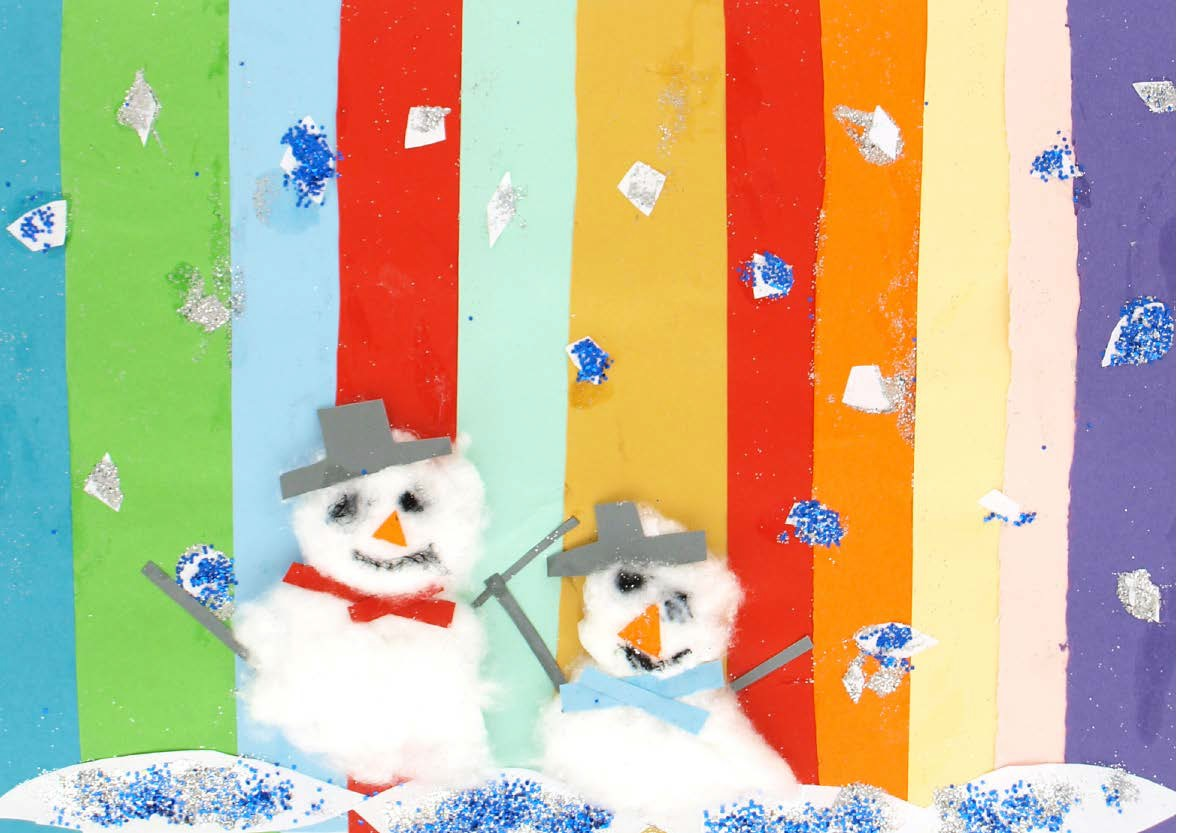Rainbow snowmen pack of 10