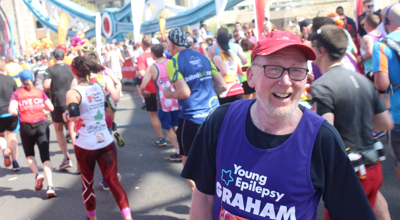 Young Epilepsy Fundraising Challenge London Marathon 2018 Graham