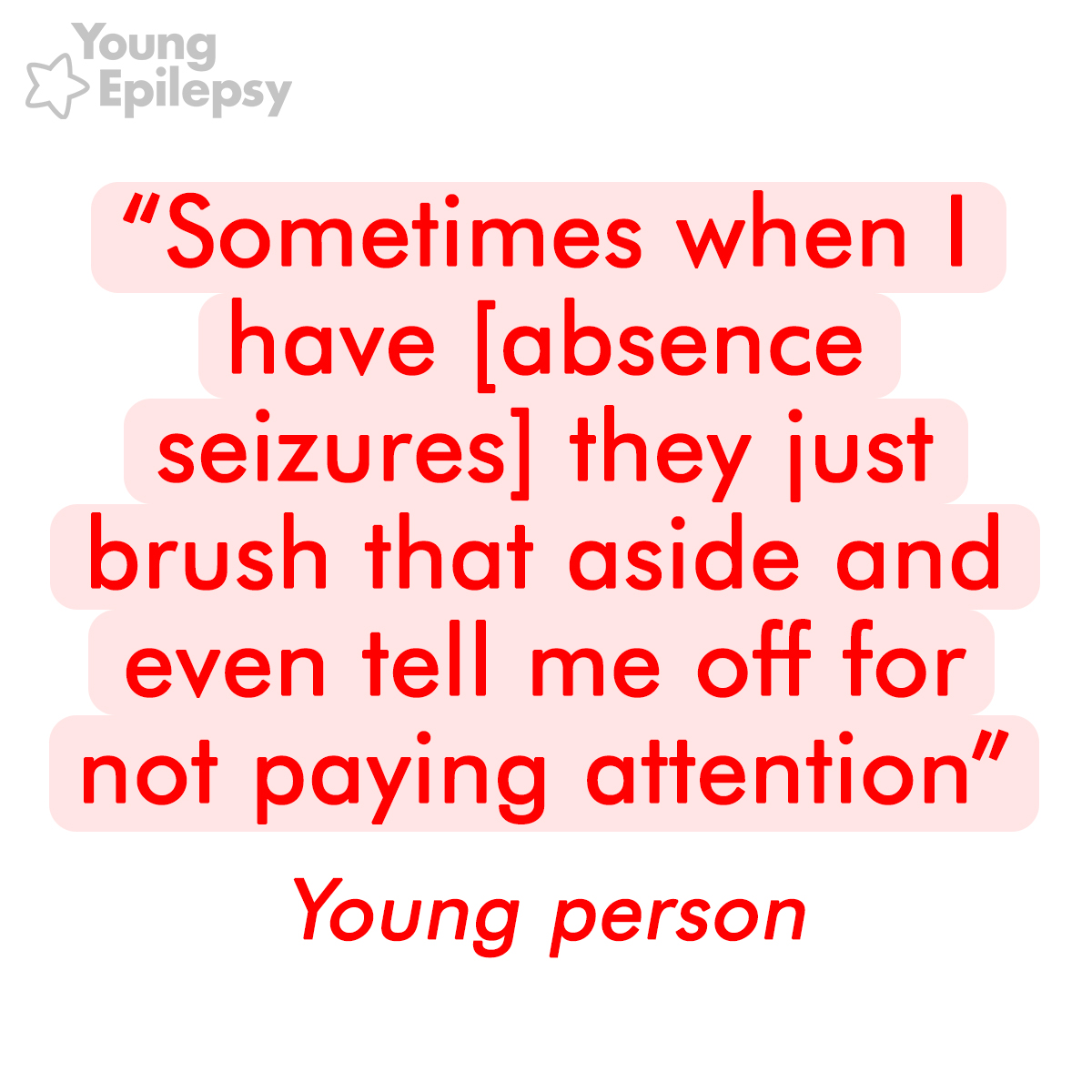 Absence Seizure Quote