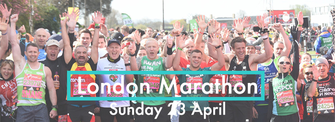 Start line for London Marathon