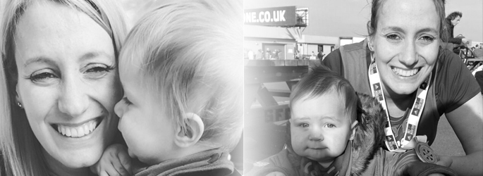 picture of Young Epilepsy blogger Faye and her son Noah