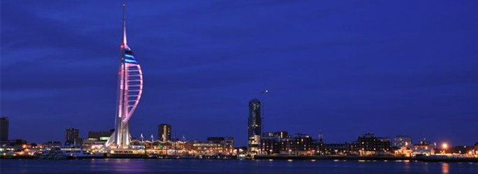 picture of Spinnaker Tower purple