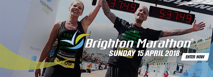 All of the runners at Brighton Marathon