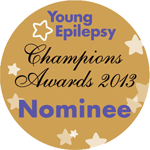 I'm a Young Epilepsy Champions Award Nominee