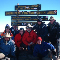 People at the peak of Kilimanjaro