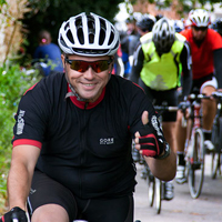 cyclist on the london bike challenge