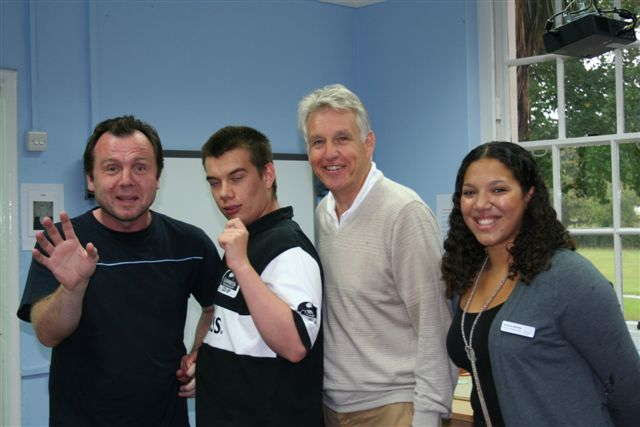 Nicholas Owen with Students and Staff
