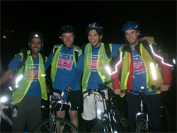 Young Epilepsy London Nightrider team
