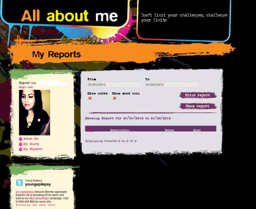 all about me -- my reports page